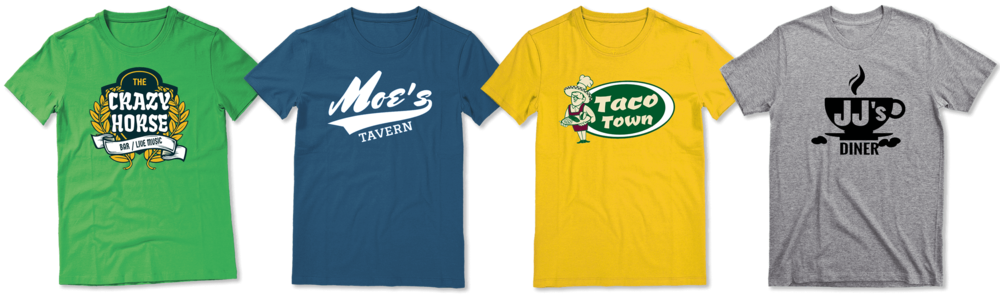 Custom restaurant shirt designs
