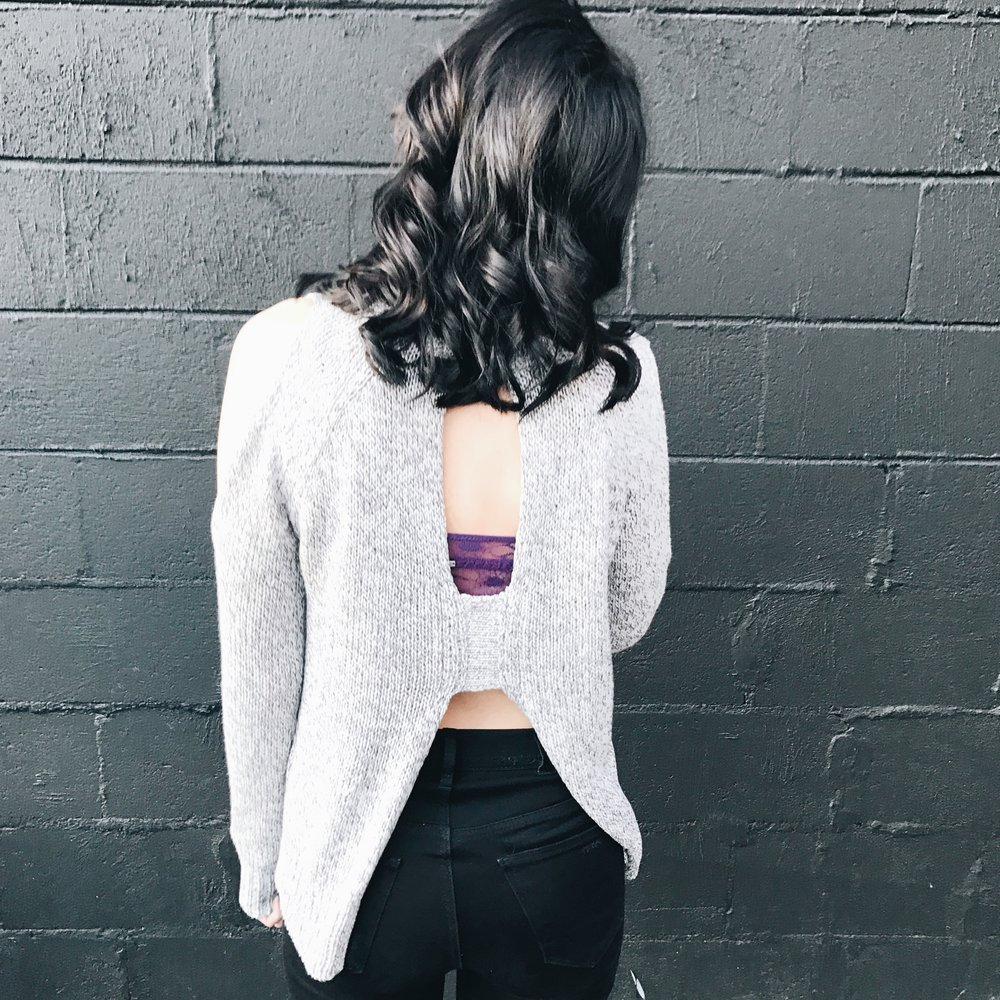 Cold Shoulder & Open Back