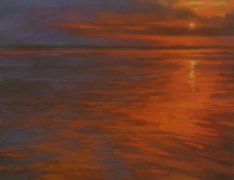 Smoldering | Pastel on Copper, 18 x 14 in | 29.25 x 25.5 in framed | $1,300