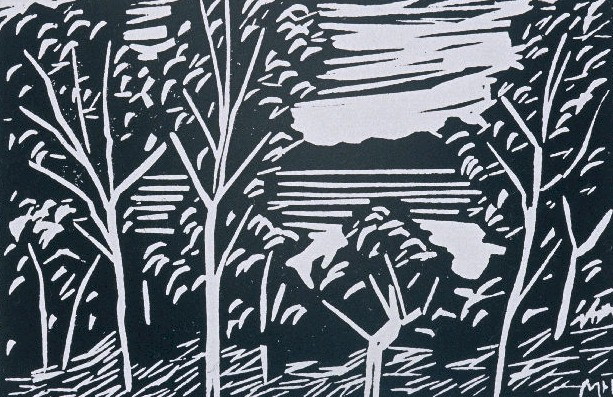 Madrona Woods | Block Print, 6 x 4 in | $150