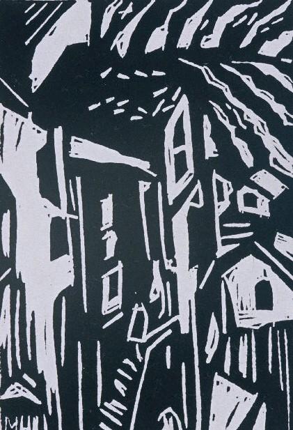 Italian Hill Town | Block Print, 4 x 6 in | $150