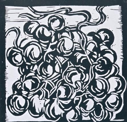 Grapes | Block Print, 6 x 6 in | $150