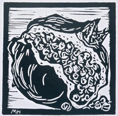 Pomegranate | Block Print, 6 x 6 in | $125