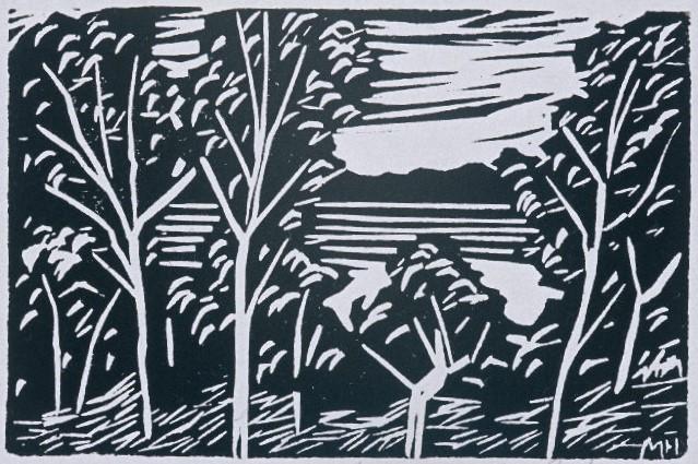 Madrona Woods | Block Print, 6 x 4 | $125