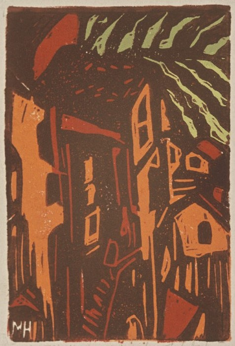 Italian Hill Town | 4-Color Block Print, 4 x 6 in | $225