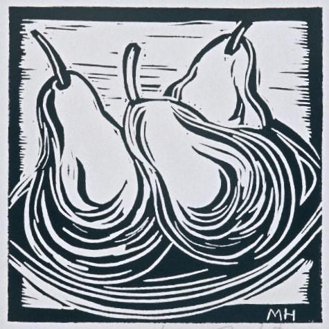 3 Pears | Block Print, 6 x 6 in | $125