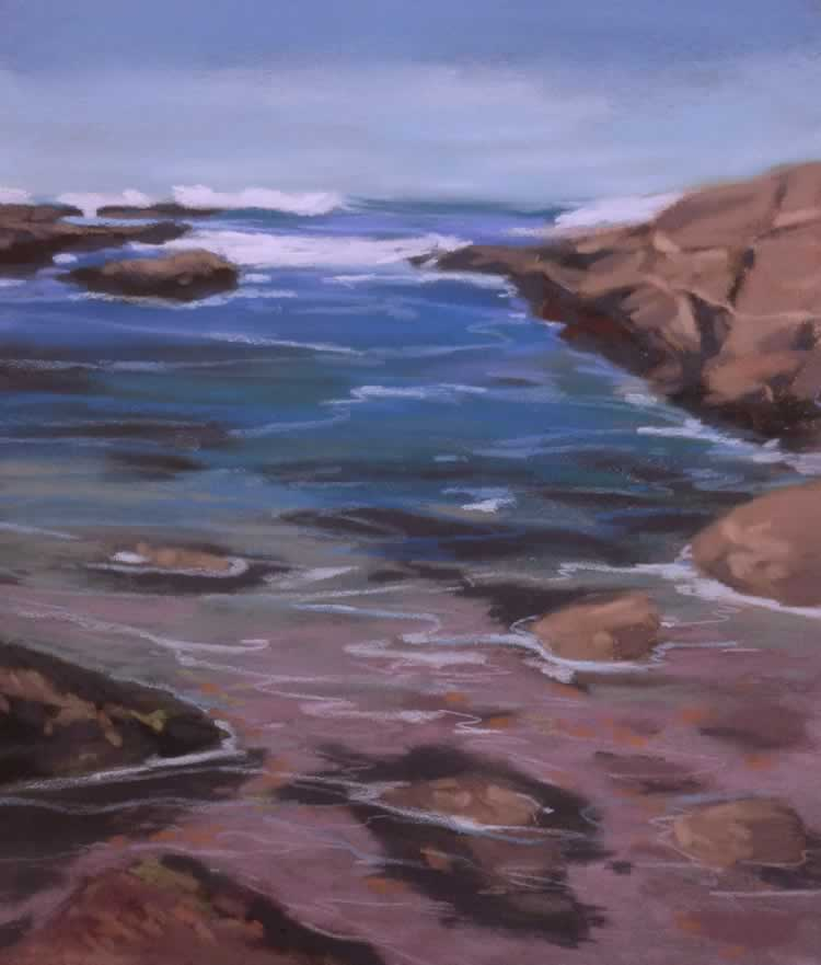 Wave Watching | Pastel on Copper | 14 x 18 in