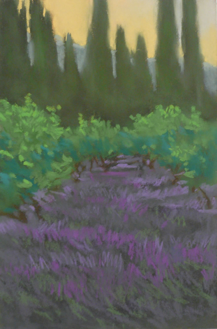 Lavender Dawn | Pastel on Copper | 8 x12