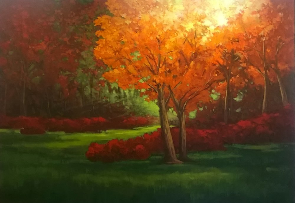 Arboretum Light | Acrylic on canvas, 60 x 48 in | $ 7,500 Sold