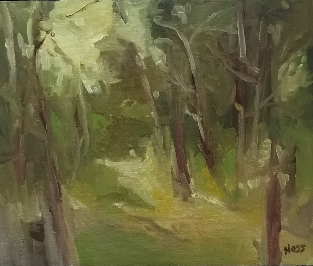 Into the Glen | Oil on Canvas, 12 x 10 in | $ 750 Sold