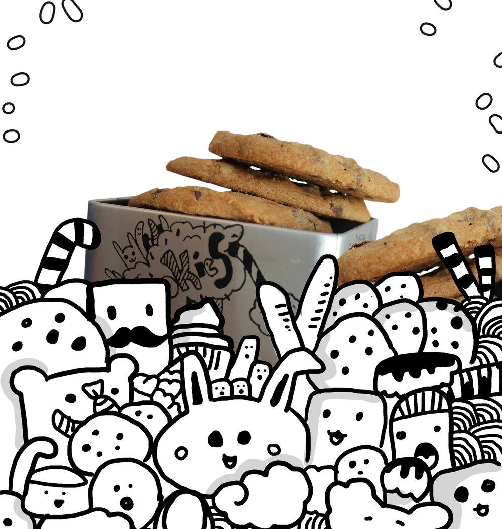 seeds עיצוב קופסאות לעוגיות וברכה עבור קונדיטורית