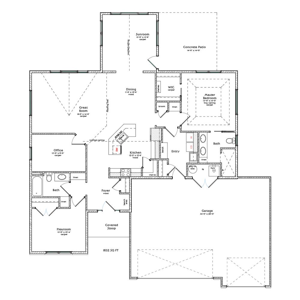 Floor Plans Berscheid Builders – Patio Homes Floor Plans