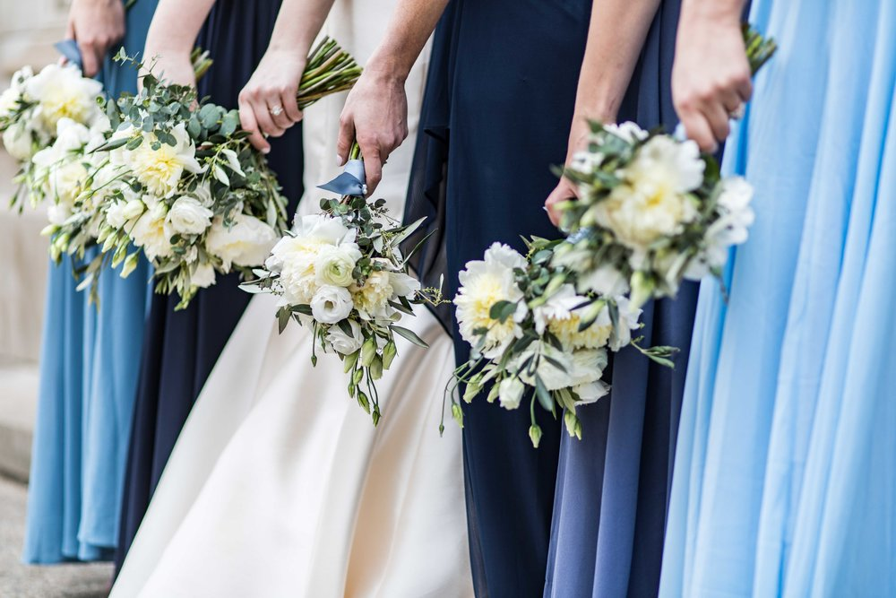 The Bridesmaids and their bouquets