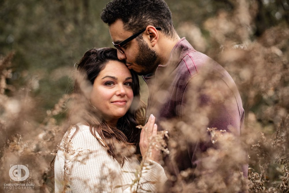 Western Michigan University Asylum Lake Land Preserve fall engagement photos