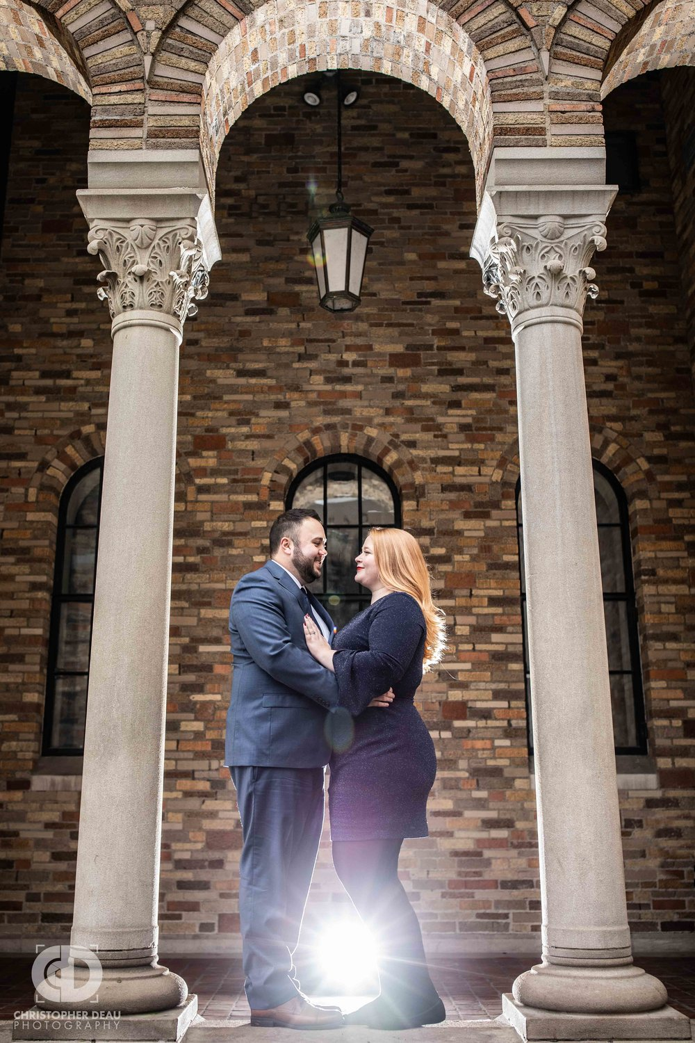 Fountain Street Church Grand Rapids, Michigan.  Engagement Session