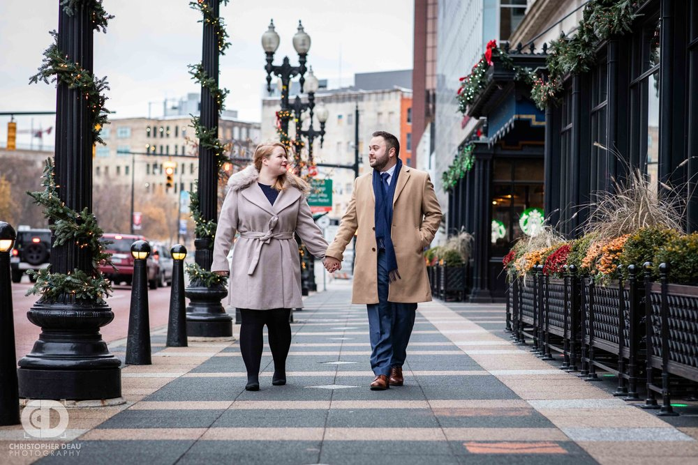 Grand Rapids Engagement session at the Amway Grand in Grand Rapids