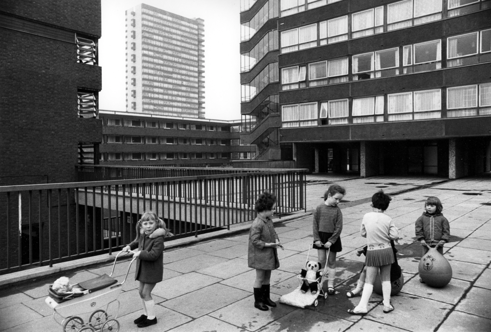 The Pepys Estate in Deptford, South London, one of the largest post war housing projects.  Photo Tony Ray-Jones , 1970