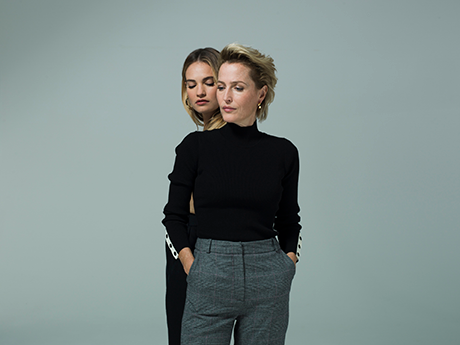 Gillian Anderson and Lily James