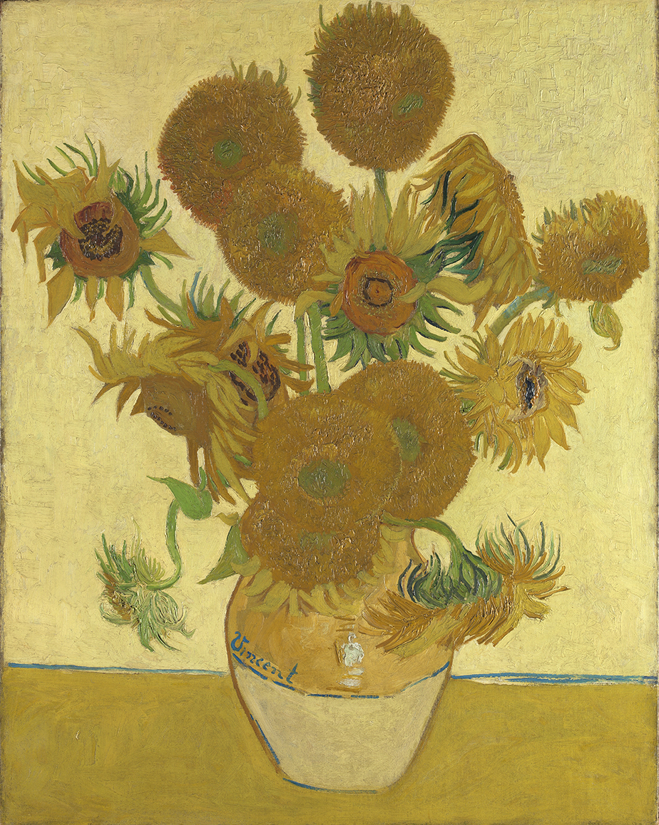 Sunflowers 1888, Vincent van Gogh cThe National Gallery / Bought, Courtauld Fund ,1924
