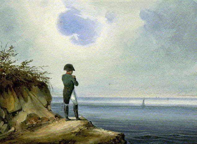 Napoleon sätts i exil på Sankta Helena 1815.