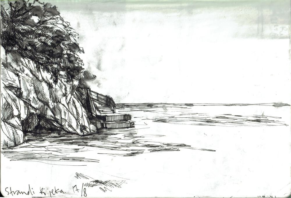 strand rijeka rak liten