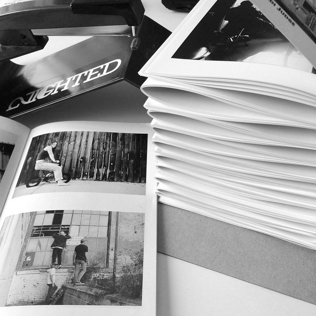 Just finished binding these new zines for Heidi Judge. Email NIGHTEDLife@gmail.com if you're looking for a zine printing quote¡¡