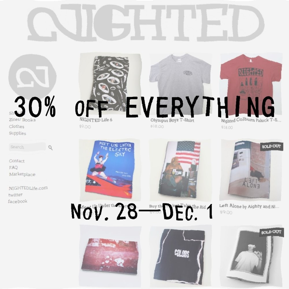 30% off everything in the NIGHTED Store, ending soon¡¡ No code needed, just use this link:: http://www.storenvy.com/stores/33463-nighted