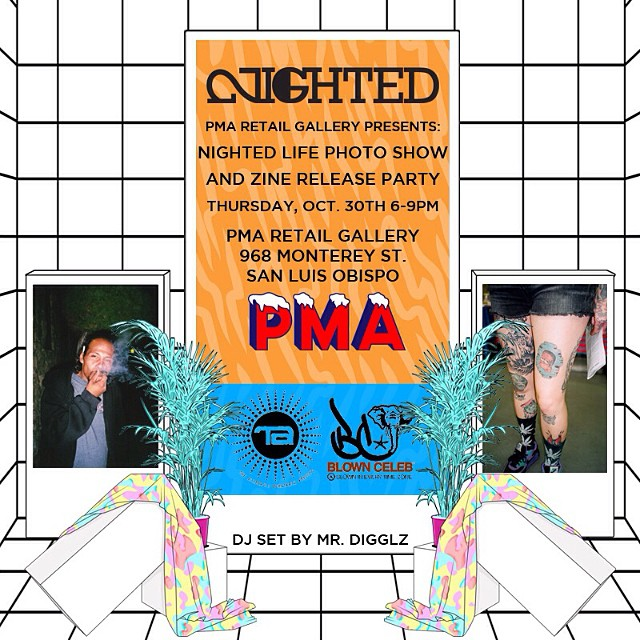 SLO tomorrow night¡¡ All the photos from NIGHTED Life 6 will be on display, come thru @pma_rg