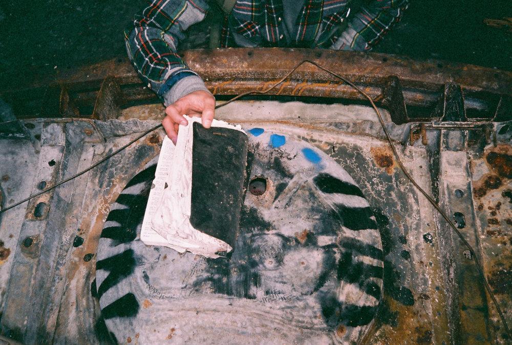 kebleier: holy bible burnt car