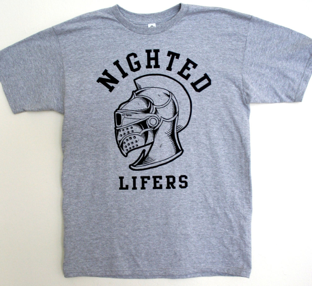The NIGHTED Lifers t-shirt by The Krizzo is down to the last few sizes..