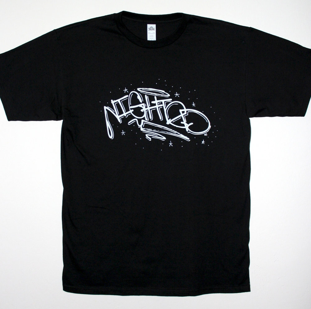 The   NIGHTED Handstyle t-shirt   is down to the last few sizes and on sale, go pick one up.