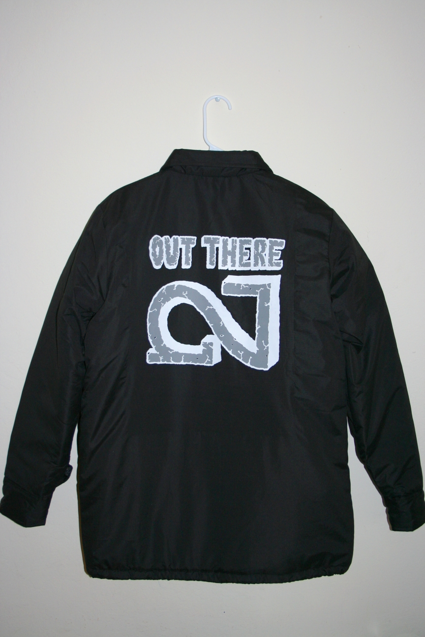 The OUT THERE Jacket, designed by Jared Gaustad is up now.. It's a Champion jacket with thick custom green lining. Limited to 30- go cop! http://nighted.storenvy.com/products/4011958-out-there-jacket