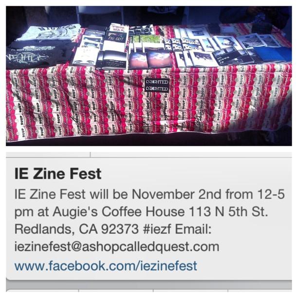 What's good Inland Empire! Come thru the zine fest today and hook urself up! @iezinefest #iezinefest
