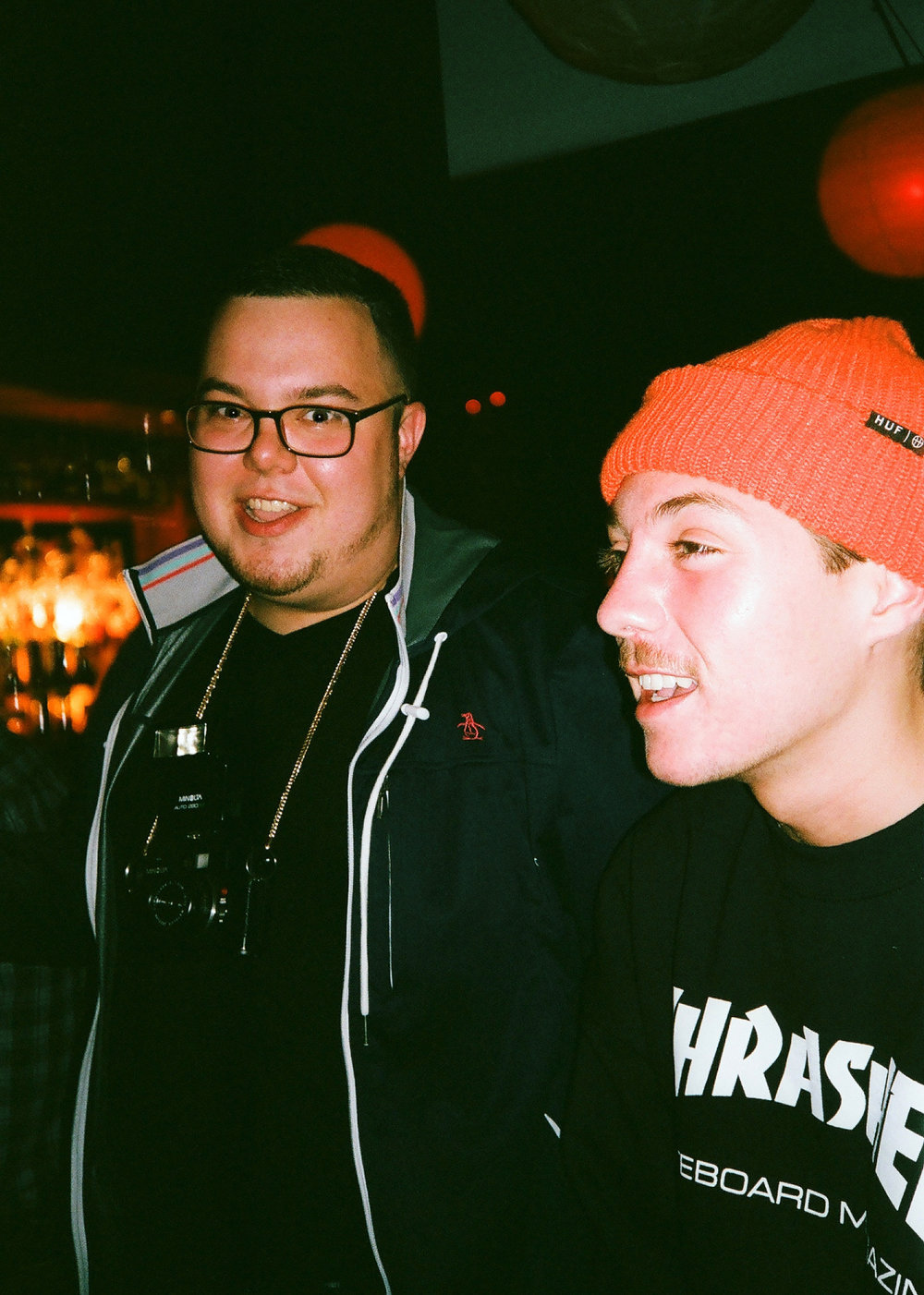 jaredgaustad: Nick Garcia snapped this photo of Andy MC and myself at the NIGHTEDLife after party. Feeling very blessed and fortunate to have met Andy. Your missed by many and forever in out hearts. I know wherever you are, you've most likely got your gold chained cam locked an loaded ready for action like a true #nightedlifer  rest in peace my friend