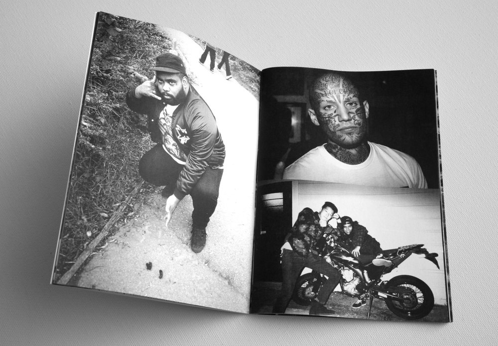 Spread from Black Dice Zine by Wables DFWC, up now in the NIGHTED Store
