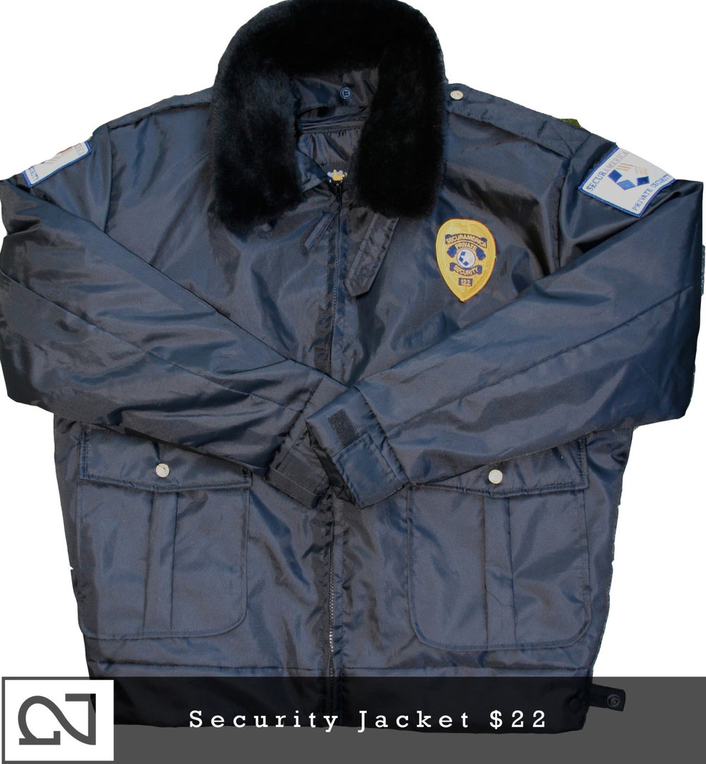 SOLD! New gear next Sunday!     _________________________________      Nighted Find: Security Jacket         Use your imagination.     Up now in the    NIGHTED Store   !