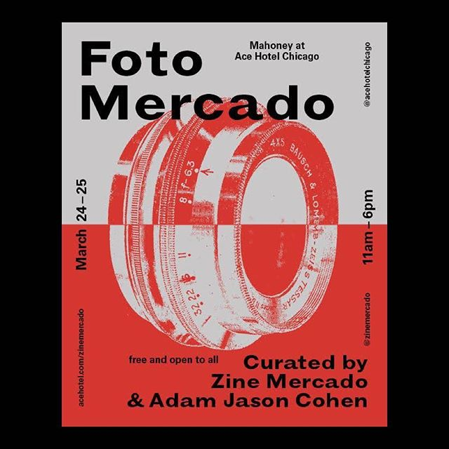 Come see us in Chicago at Foto Mercado next weekend¡¡ New zines by us, tables from some of the best photo-based publishers in the game, plus DJs, food and drinks • Big thanks to @zinemercardo and @adamjasoncohen for putting this on • #fotomercado