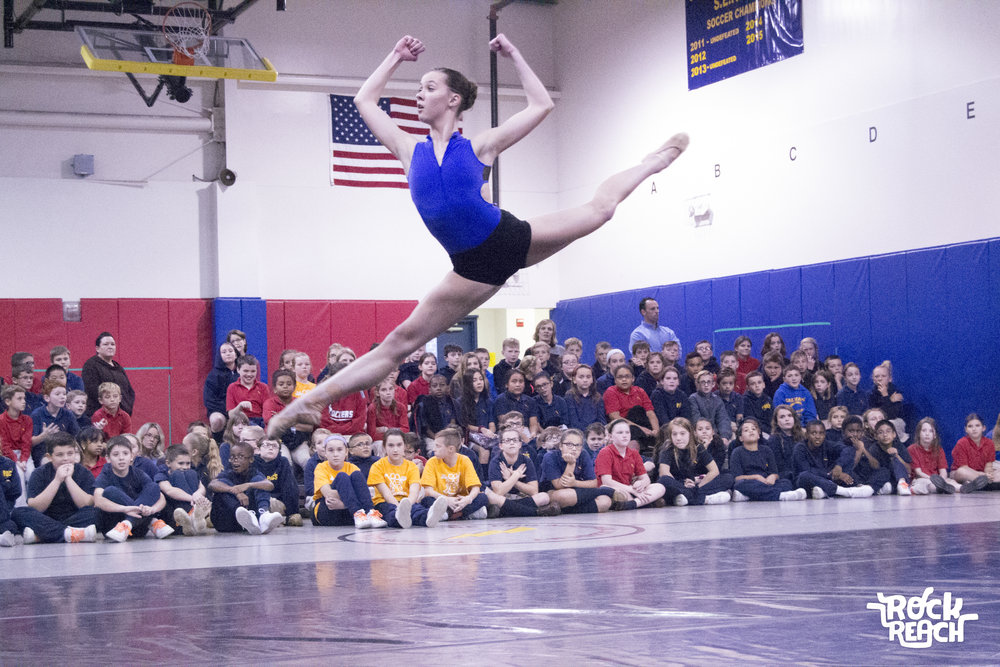 RockReach Dynamics of Dance dancer, Abigail Fletcher at Philadelphia Academy Charter School.