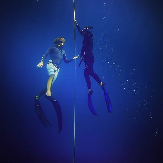 loveing diving and watch these amazing people take there first steps in to freediving...#freediveing #amed