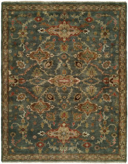 Rug #003598 Retail: $1,073.00 Sale: $751.00 Size: 4'x6' Color: Storm Blue Hand Knotted Wool Made in India