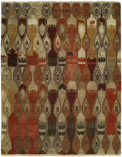 Rug #003843 Retail: $2,405.00 Sale: $1,683.00 Size: 6'x9' Color: Chino/Earth Hand Knotted Wool Made in India