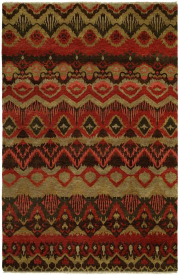 Rug #003936 Retail: $1,073.00 Sale: $751.00 Size: 4'x6' Color: Rust Red Hand Knotted Wool Made in India