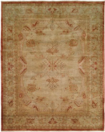 Rug #003732 Retail: $1,961.00 Sale: $1,372.00 Size: 4'x6' Color: Earth Hand Knotted Wool Made in India