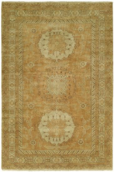 Rug #003578 Retail: $1,702.00 Sale: $1,191.00 Size: 4'x6' Color: Earth Hand Knotted Wool Made in India