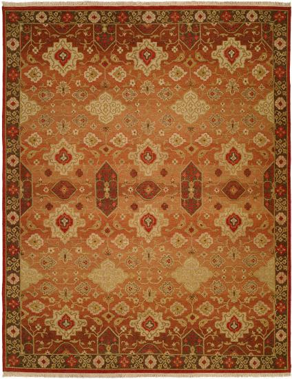 Rug #003736 Retail: $1,110.00 Sale: $777.00 Size: 4'x6' Color Vintage Spice Hand Knotted Wool Made in India