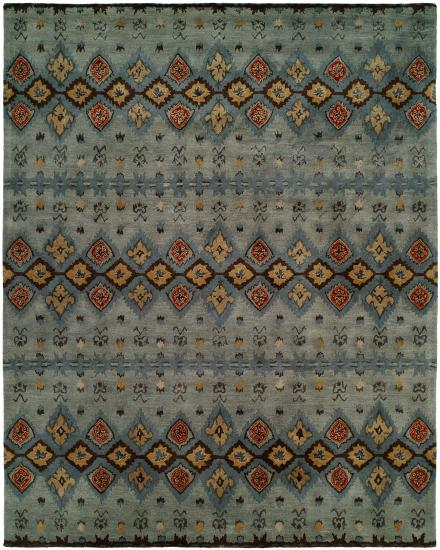 Rug #004972 Retail: $481.00 Sale: $337.00 Size: 4'x6' Color: Multi Hand Knotted Wool Made in India