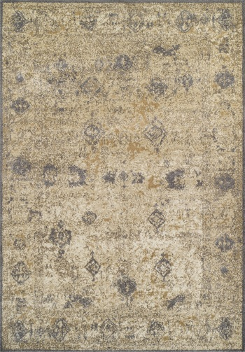Rug #003909 Retail: $248.00 Sale: $174.00 Size: 3'x5' Color: Ivory/Grey Made in Egypt Polypropylene