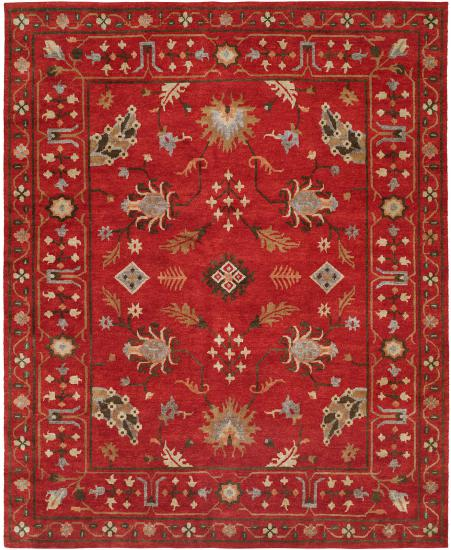 "Rug: #003601 Retail: $1,184.00 Sale: $829.00 Size: 2'7"" x 10'1"" Runner Color: Canyon Red Made in India Hand Knotted Wool"