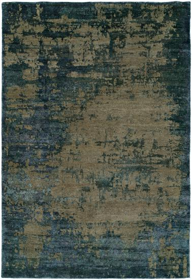 Rug #003747 Retail: $7104.00 Sale: $4973.00 Size: 8'x10' Color: Denim Made in India Wool & Silkette