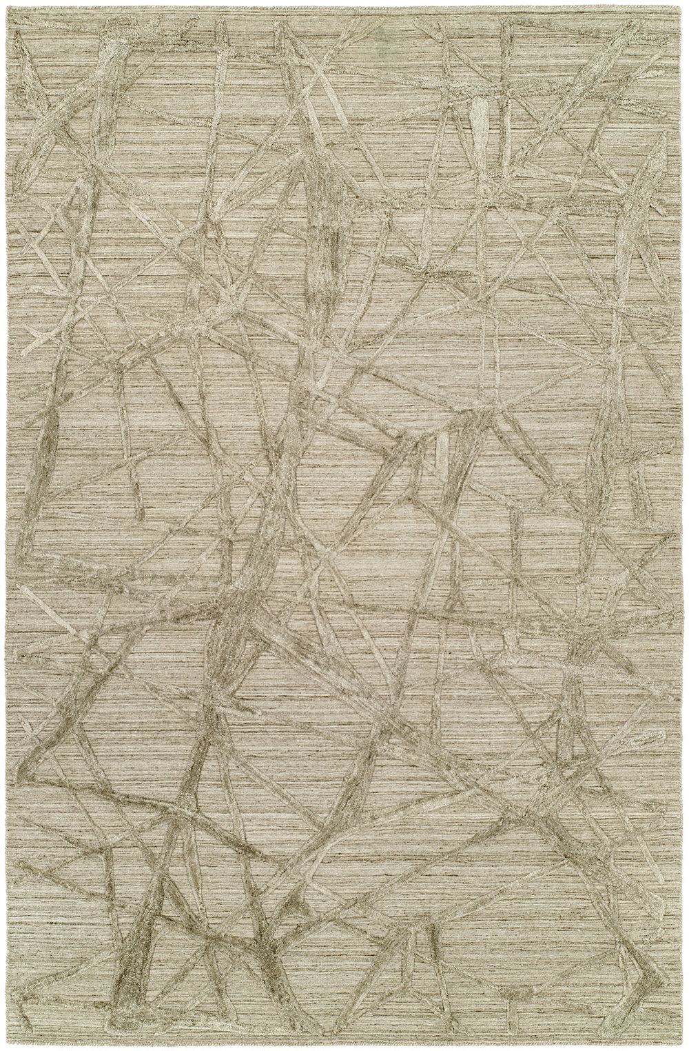Rug #003635 Retail: $3330.00 Sale: $2331.00 Size: 9'x12' Color: Linen Wool & Silkette Made in India